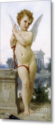 Love, 1891 Metal Print by William-Adolphe Bouguereau