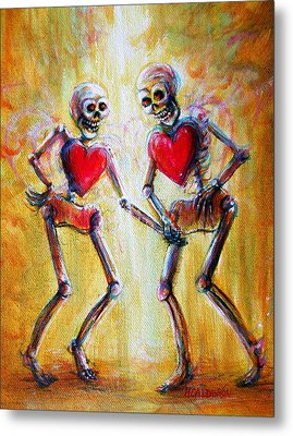 Metal Print featuring the painting Love 2 Love by Heather Calderon