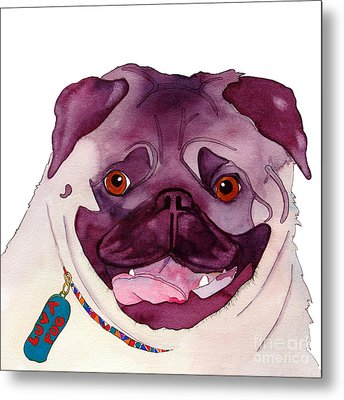 Love A Pug Metal Print by Jo Lynch
