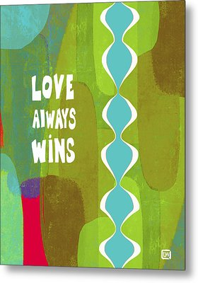Metal Print featuring the painting Love Always Wins by Lisa Weedn