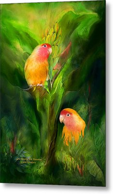 Love Among The Bananas Metal Print by Carol Cavalaris