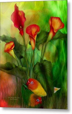 Love Among The Lilies  Metal Print by Carol Cavalaris