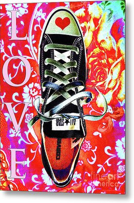 Love And Converse Metal Print