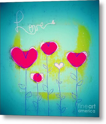 Love Art - 144a Metal Print by Variance Collections