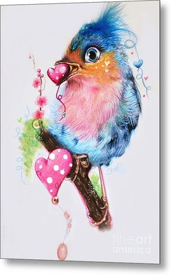 Love Bird Metal Print by Sheena Pike