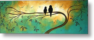 Love Birds By Madart Metal Print