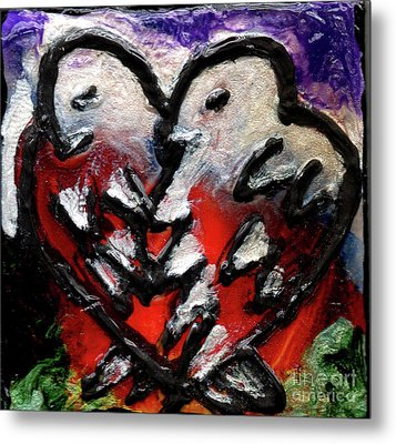 Metal Print featuring the painting Love Birds by Genevieve Esson