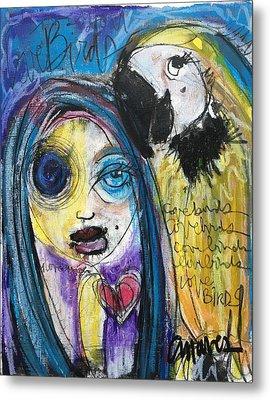 Love Birds Metal Print by Laurie Maves ART