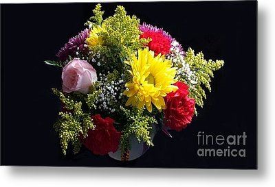 Love Bouquet Metal Print by Becky Lupe