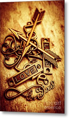 Love Charms In Romantic Signs And Symbols Metal Print