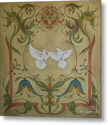 Love Doves Metal Print by Jindra Noewi