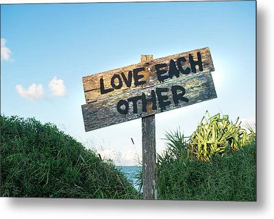 Love Each Other Metal Print