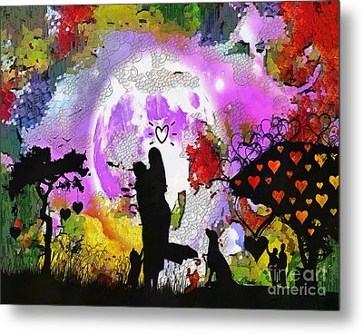 Love Family And Friendship In The Mix Metal Print by Catherine Lott