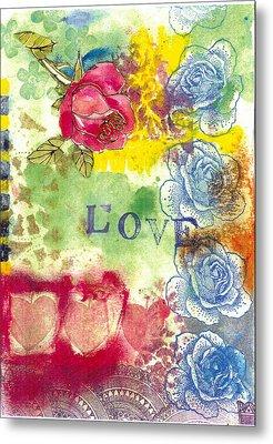 Love Metal Print by Gloria Von Sperling