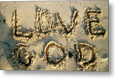 Love God Metal Print
