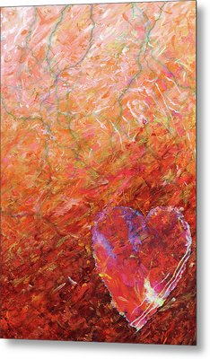 Love, Hope, And Compassion, For A Peaceful World Metal Print by Julie Turner