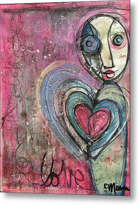 Metal Print featuring the painting Love In All Things by Laurie Maves ART