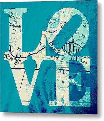 Love In Long Island V7 Metal Print