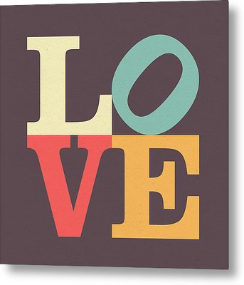 Love In Vintage Metal Print by Taylan Apukovska