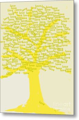 Love Inspiration Tree Metal Print by Go Van Kampen