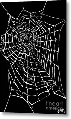 Love Is A Tangled Web Metal Print by Turtle Caps