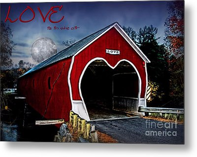 Metal Print featuring the photograph Love Is In The Air by DJ Florek