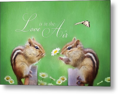 Love Is In The Air Metal Print by Lori Deiter