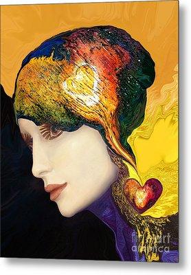Love Hat Metal Print by Art by Ela