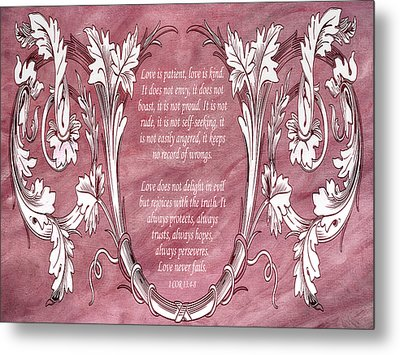 Metal Print featuring the digital art Love Is Kind by Angelina Vick