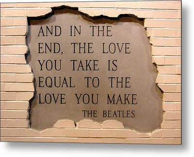 Metal Print featuring the photograph Love Is Love by Juergen Weiss