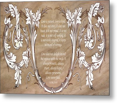 Metal Print featuring the digital art Love Is Patient by Angelina Vick