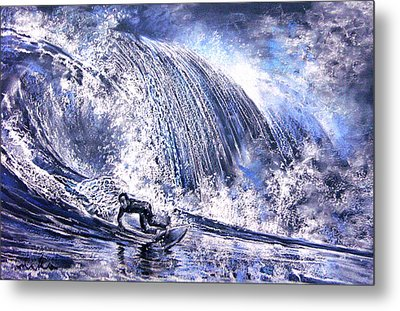 Love Is The Seventh Wave Metal Print by Miki De Goodaboom