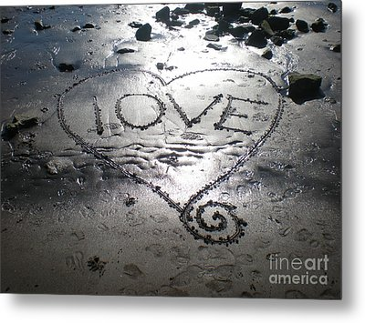 Love Metal Print by Kim Prowse