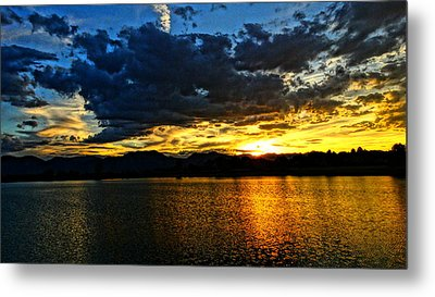 Metal Print featuring the photograph Love Lake by Eric Dee