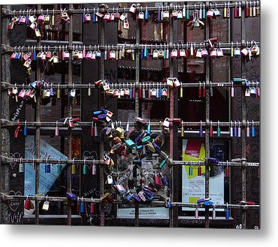 Love Locks At Juliet's House Metal Print