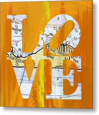 Love Long Island V1 Metal Print