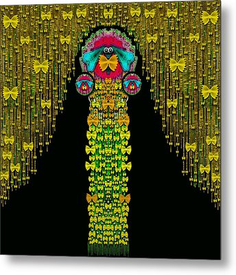 Love Me Give Me A Home Indoors Popart Metal Print