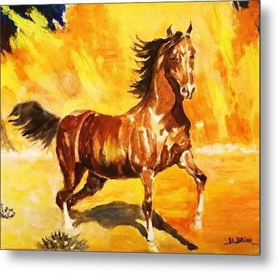 Lone Mustang Metal Print by Al Brown