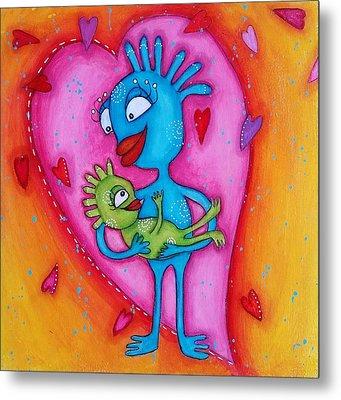 Love Of A Mother Metal Print by Barbara Orenya