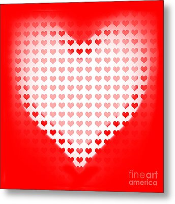 Love Of Valentines Background. Big Red Heart Metal Print by Jorgo Photography - Wall Art Gallery