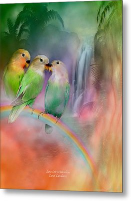Love On A Rainbow Metal Print by Carol Cavalaris