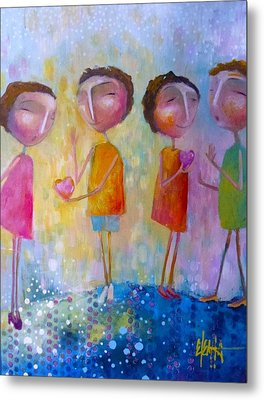 Metal Print featuring the painting Love One Another by Eleatta Diver