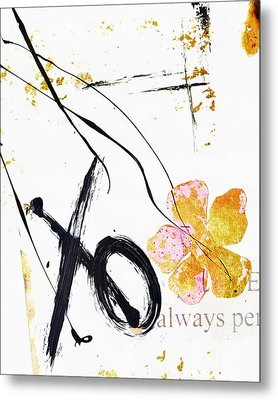 Love Perseveres Xo Collage Metal Print by Anahi DeCanio