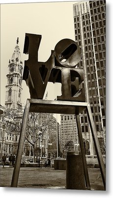 Love Philadelphia Metal Print by Jack Paolini