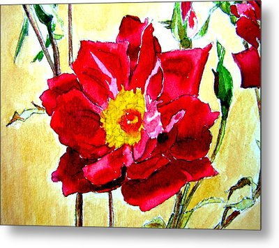 Metal Print featuring the painting Love Rose by Ana Maria Edulescu