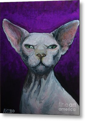 Love Sphynx Cat Metal Print