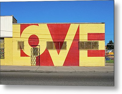 Love Store Front Metal Print by David Kyte