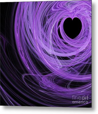 Love Swirls . Square . A120423.689 Metal Print by Wingsdomain Art and Photography