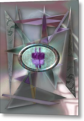 Love Triangles 2 Metal Print by Warren Furman