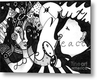 Love Truth Peace Metal Print by Helena Tiainen